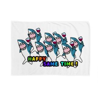 Happyサメtime Blankets