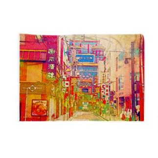 中華街 Blankets