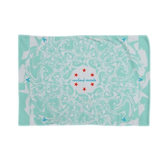 Marble: Radial Mint Blue Blankets