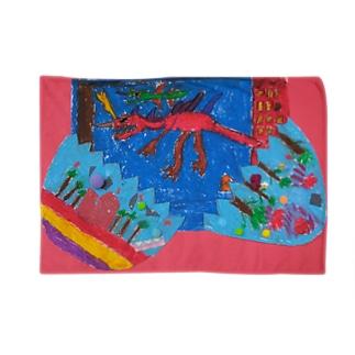 卵から真っ赤な恐竜 Blankets