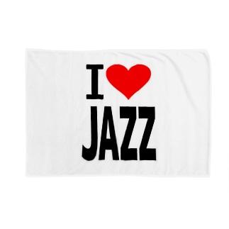 愛 ハート JAZZ ( I  Love JAZZ ) Blankets