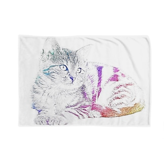 猫 レインボーエディション Blankets
