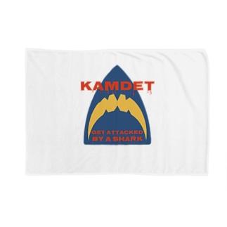 カムデット kamdet  シャークロゴデザイン Blankets