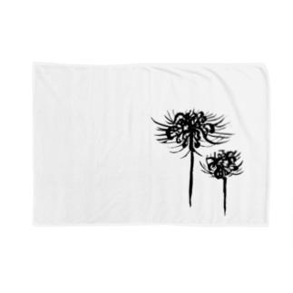 曼珠沙華 黒 Blankets