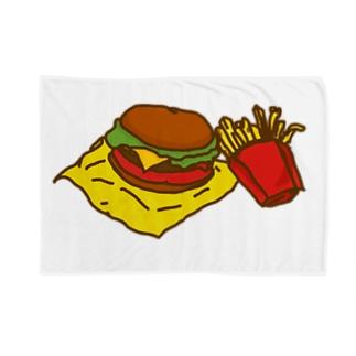 ネコックさんのハンバーガー Blankets