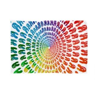 虹色うさちゃん放射 Blankets