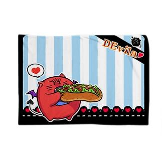 DEvila & sandwich (水色) Blankets