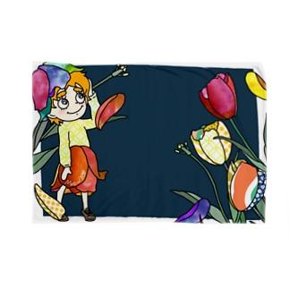 ハナムスメ(チューリップ) ブランケット Blankets