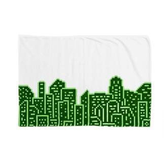 Buildings 緑 Blankets