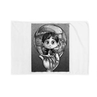 写像球体を持つ森邦子 Blankets