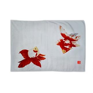 【金魚】更紗琉金 Blankets