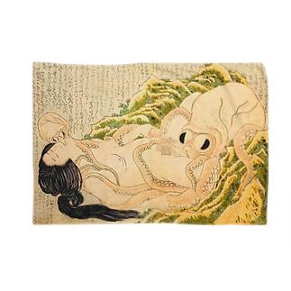 葛飾北斎 春画 海女と蛸 Blankets