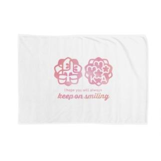 桃花ちゃん_ナゴコロゴ Blankets