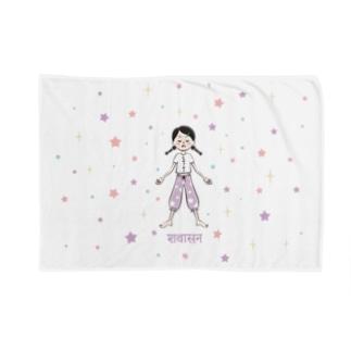 シャヴァーサナの女の子 Blankets