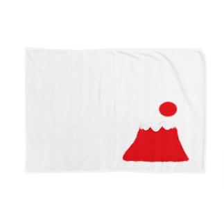 高い富士山に太陽のぼる Blankets