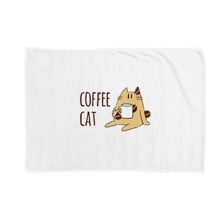 COFFEE CAT Blankets