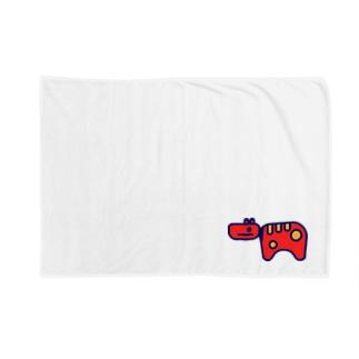 Akabeko 赤べこ Blankets