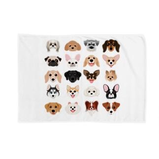 いろいろな犬種のかわいい顔 Blankets