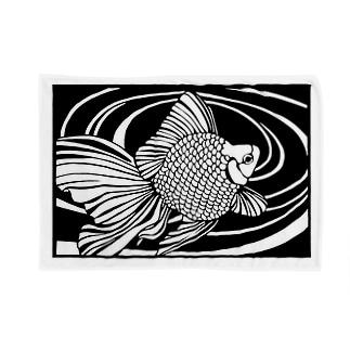切り絵金魚  琉金  〜雅〜 Blankets