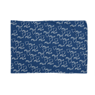 stelfestoの波千鳥パターン・青藍 Blankets