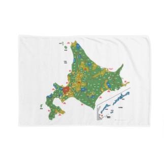 北海道179市町村地図 Blankets