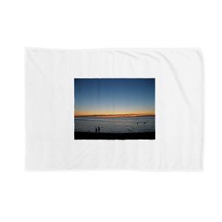 クリスマスの夜9時頃のメルボルンビーチ Blankets