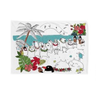 Aloha mai スクエア Blankets
