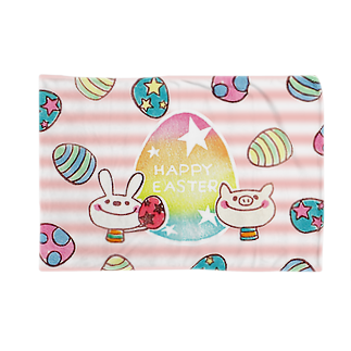 red smileのHAPPY EASTERブランケット