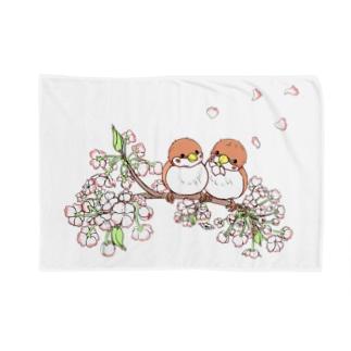 らくがきシリーズ★桜とスズメ Blankets