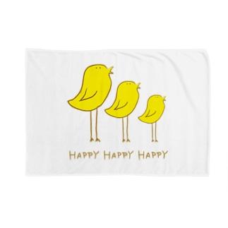 Happyな鳥 Blankets