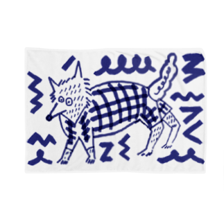 いすやますみえの狼ちゃん Blankets