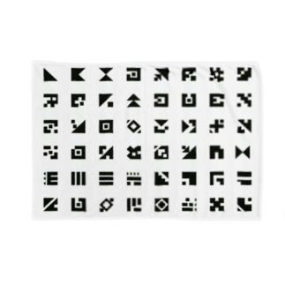 整列Aligned letters Blankets