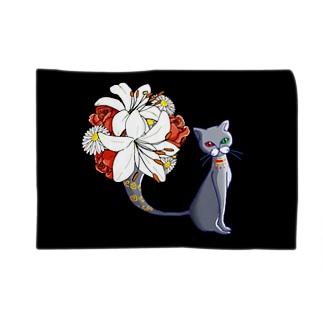 猫の花瓶/ブランケット Blankets