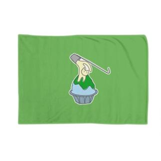 練乳ねこかき氷(メロン/抹茶) Blankets