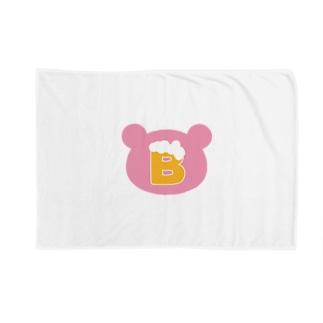 ビールベア(ロゴ) Blankets