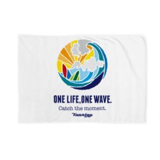 One life, One wave.(カラー) ブランケット