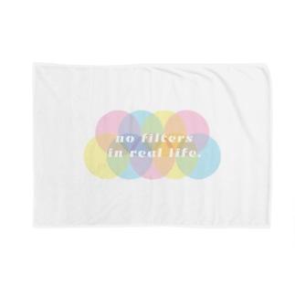 現実世界にフィルターはない。no filters in real life. Blankets