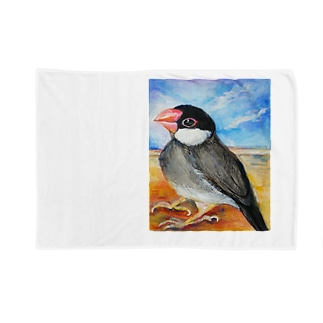 水彩な文鳥さん Blankets