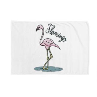 フラミンゴ Blankets