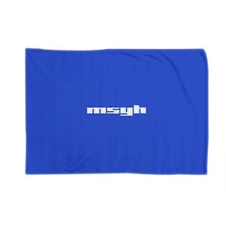 [Special Color] msyh Logo Cobalt Blue Blankets