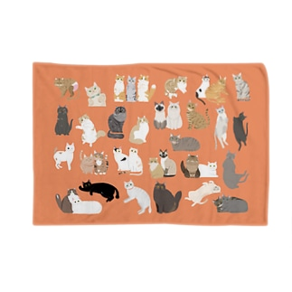 猫ちゃんブランケット ver.2(オレンジ) Blanket