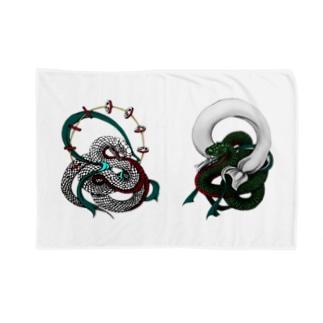 蛇風神と蛇雷神 Blankets