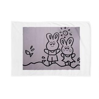 うさぎの親子の夏 Blankets