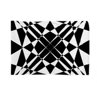 黒塚アキラ│本業×副業逆転目標🎶の模様(白黒) Blankets