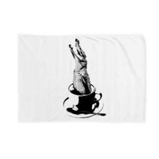 Crocochinno (Black) Blankets