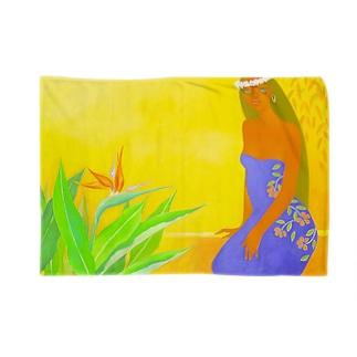 極楽鳥花と共に Blankets