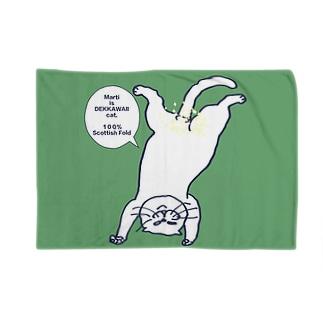 ボカシ入り逆さマル緑 Blankets