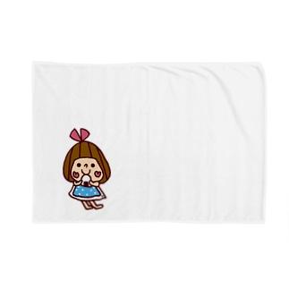 おにぎり大好きぴんきーりぼんちゃん Blankets