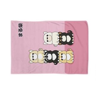 まる柴 柴犬 Blankets