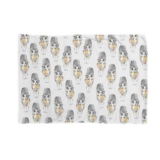 ひたすらノビノビ~シェルティー(ブルーマールグッズ) Blankets